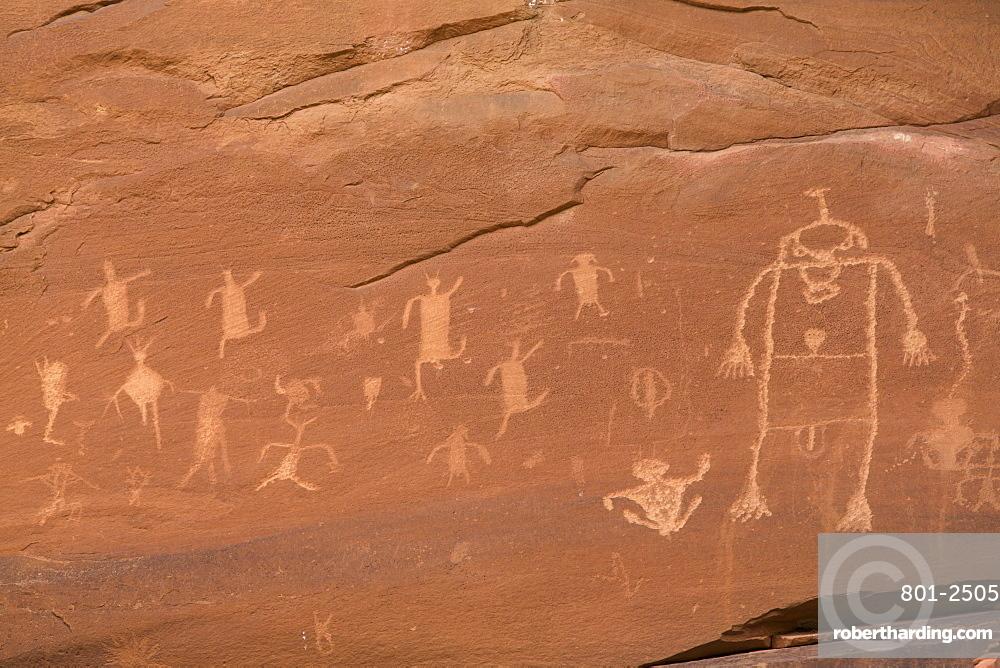 Sand Island Petroglyph Panel, Near Bluff, Utah, USA