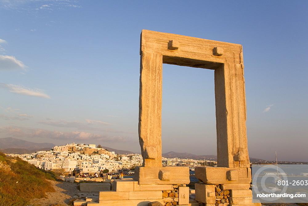 Temple of Apollo (Portara), Hora (or Chora), Naxos Island, Cyclades Group, Greece