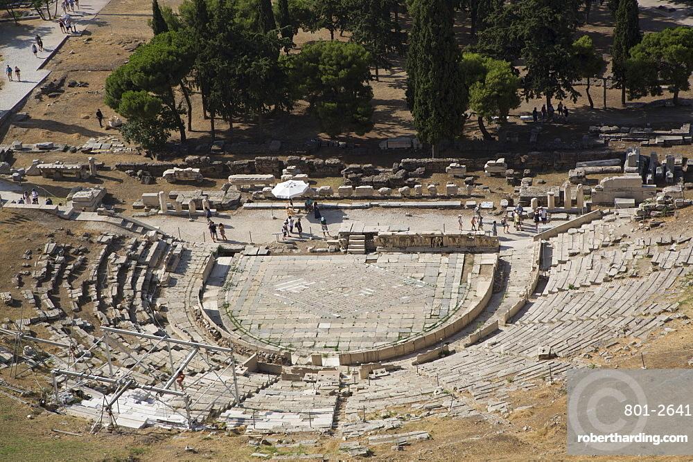 Theatre of Dionysos (Dionysus), Acropolis, UNESCO World Heritage Site, Athens, Greece, Europe