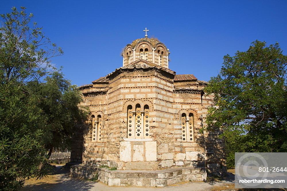 Church of the Holy Apostles, 10th century, Ancient Agora, Athens, Greece, Europe