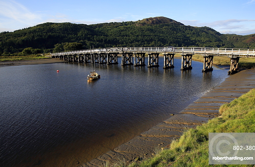 Bridge over the estuary at Barmouth, Wales