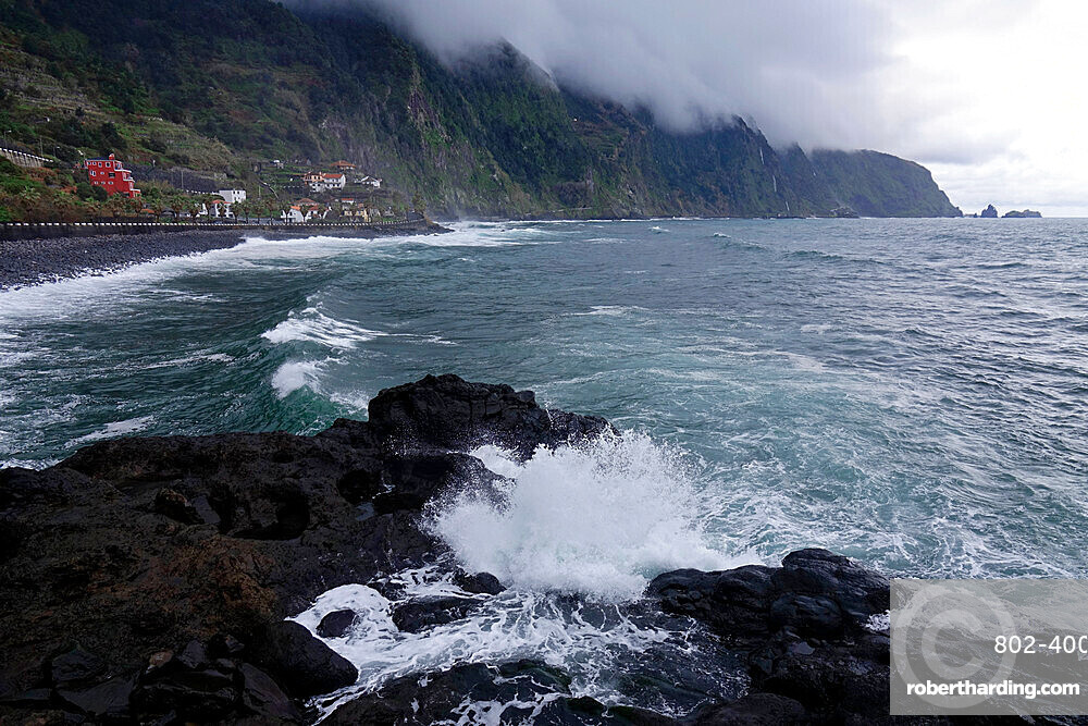 The wild coastline near Seixal, northwest Madeira, Portugal, Atlantic Ocean, Europe
