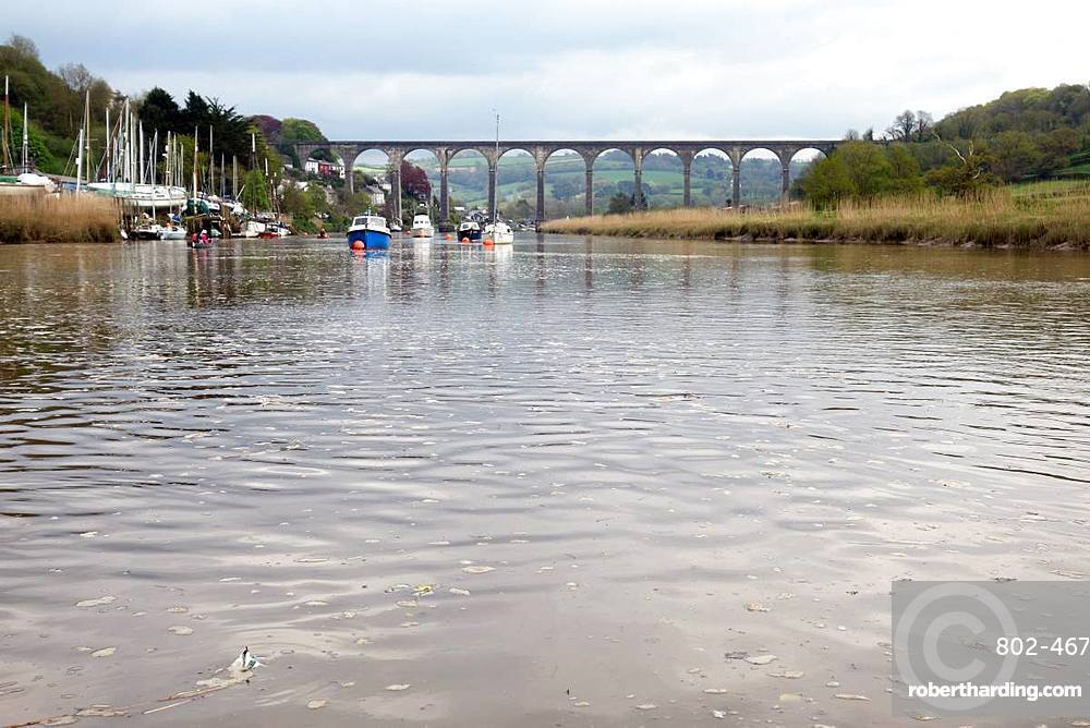 The viaduct over the River Tamar at Calstock, Devon, England, United Kingdom, Europe