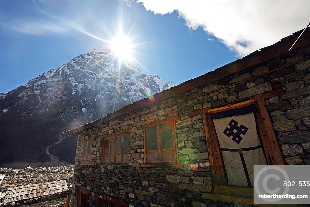 Tea house, high Khumbu, Himalayas, Nepal, Asia