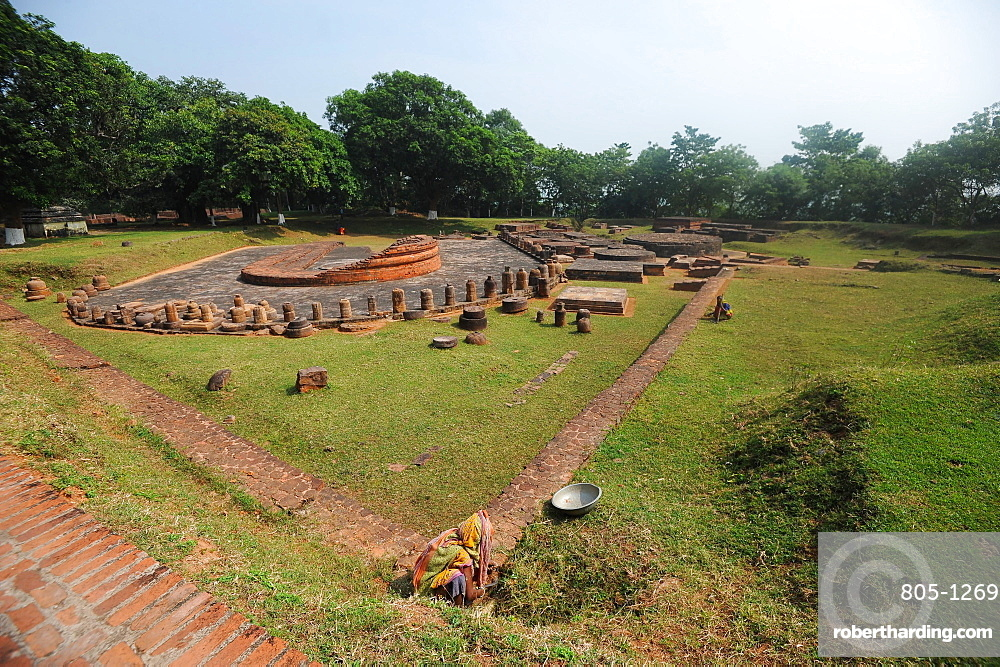 Remains of a Buddhist monastery at Lalitgiri archaeological site dating back to 1st century, Odisha, India, Asia