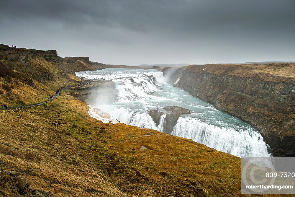 Gullfoss waterfall, Iceland, Polar Regions
