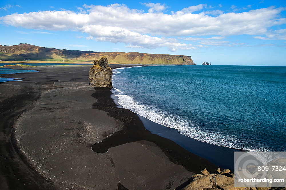 Black sand beach near Vik, Iceland, Polar Regions