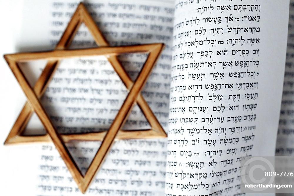 Torah and Star of David, two symbols of Judaism, Vietnam, Southeast Asia, Asia