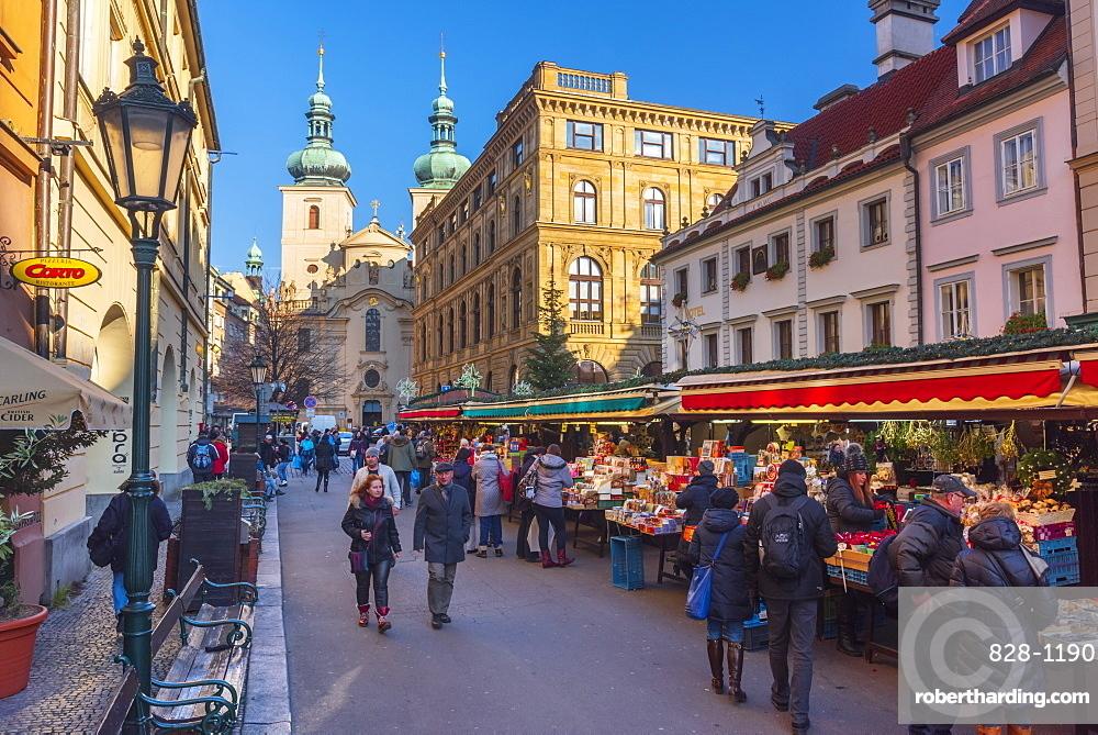 Christmas Market, Havelska Market Place, Stare Mesto (Old Town), Prague, Czech Republic, Europe
