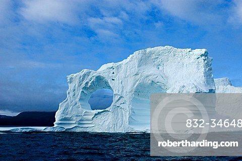 Iceberg, Disko Bay, Disko Island, Greenland,