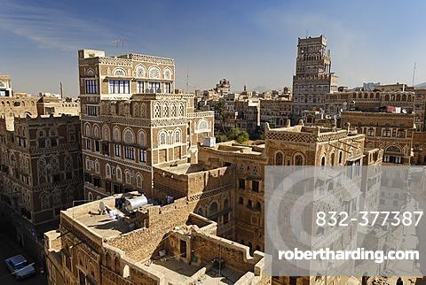 Historic old town of Sanaa, Sana´a, Unesco World Heritage Site, Yemen