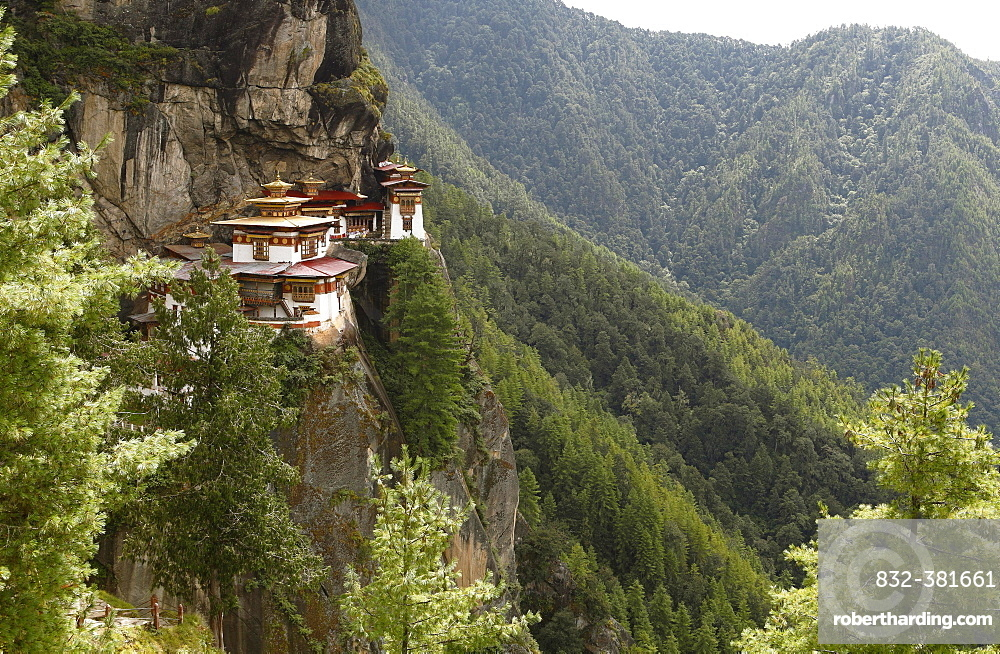 Tiger's Nest Monastery in the cliffside of Paro valley, Taktshang Goemba, near Paro, the Himalayas, Kingdom of Bhutan