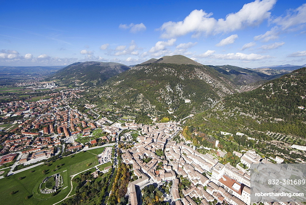 Historic town and town centre of Gubbio, Province of Perugia, Umbria, Italy, Europe