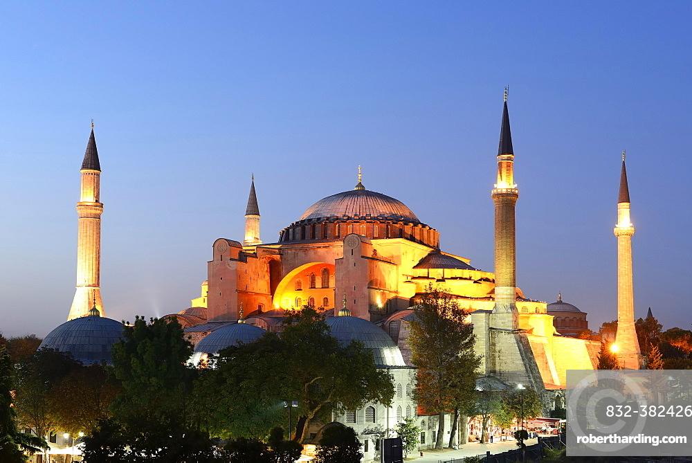 Hagia Sophia, Ayasofya, UNESCO World Heritage Site, European side, Istanbul, Turkey, Asia