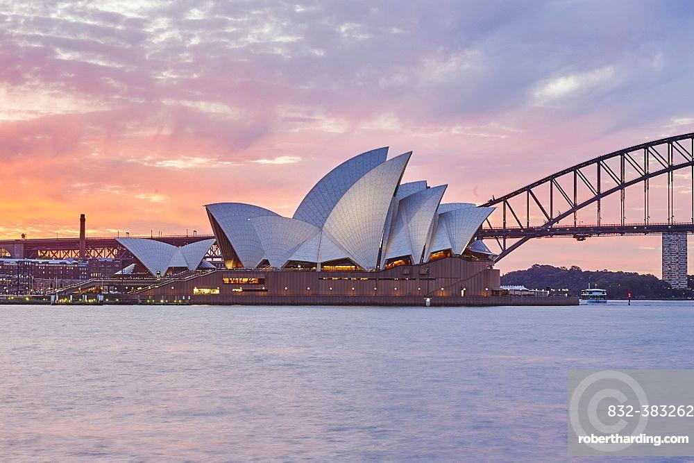 Sydney Opera at Sunset, Sydney, New South Wales, Australia, Oceania