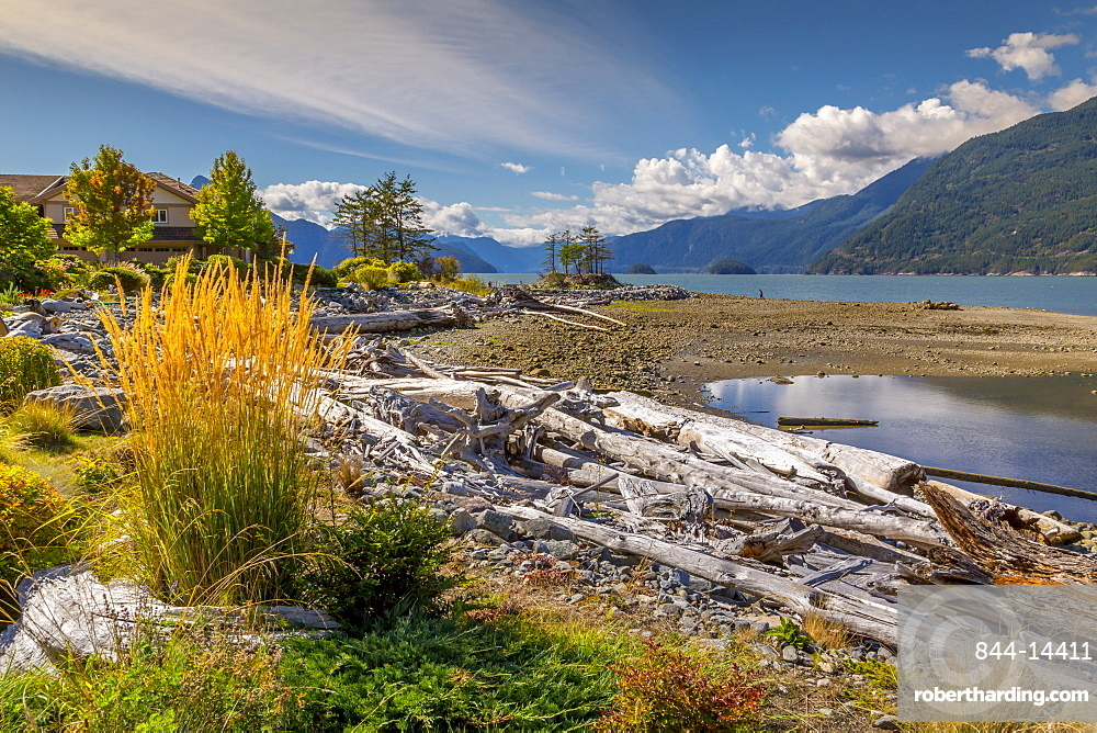 View of How Sound at Furry Creek off The Sea to Sky Highway near Squamish, British Columbia, Canada, North America
