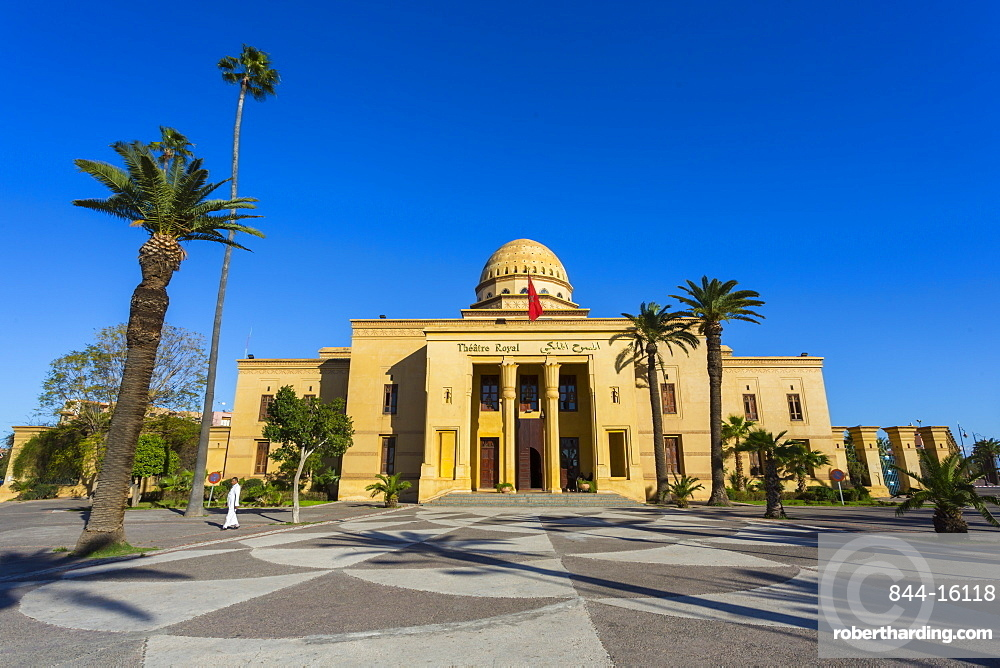 View of Royal Theatre on Avenue Mohammed Vi , Marrakesh, Morocco, North Africa, Africa