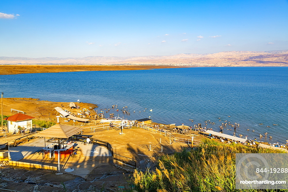 View of Dead Sea at Kalia Beach, Israel, Middle East