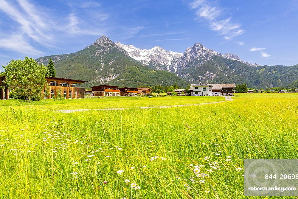 View of landscape near Ulrich am Pillersee, Austrian Alps, Tyrol, Austria, Europe