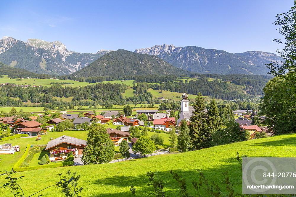 View of Heilige Margaretha Church in Oberhaus, Styria, Austria. Europe