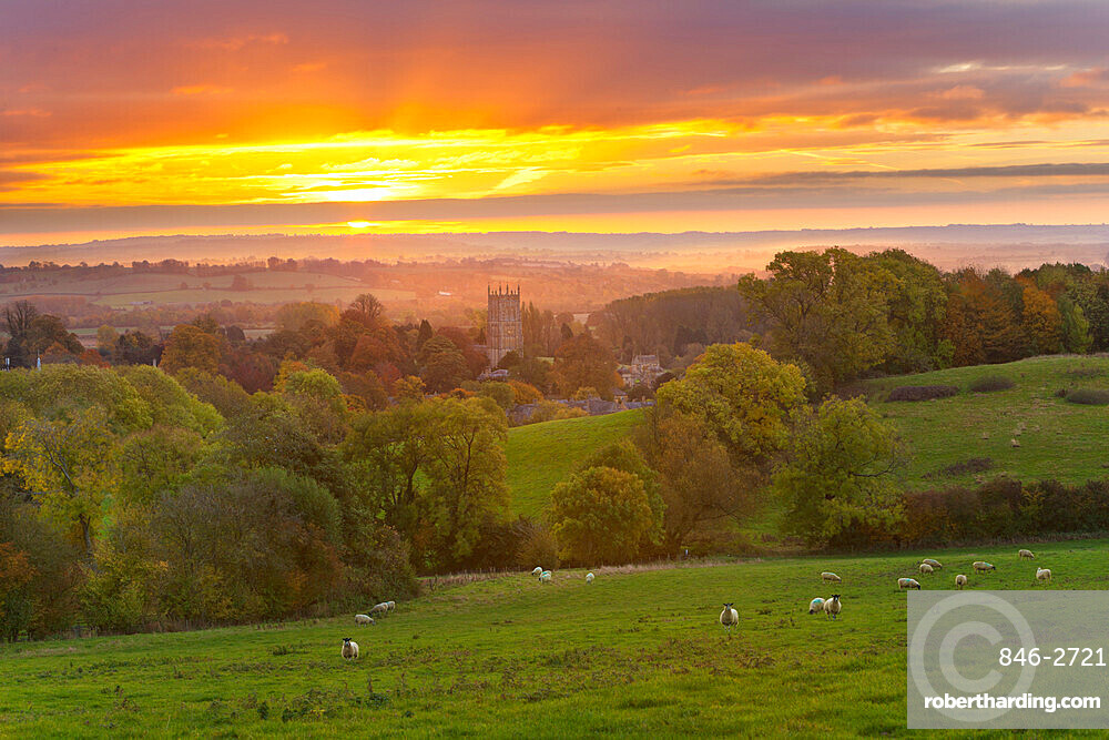 Cotswold Countryside And St James Stock Photo