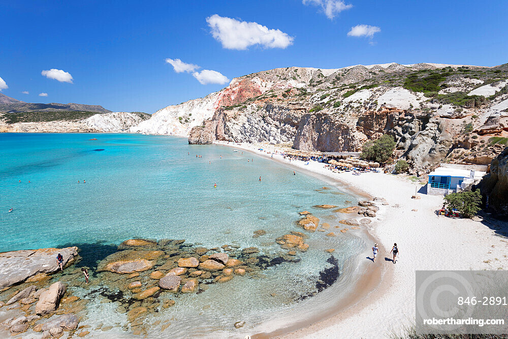 Firiplaka beach, Milos, Cyclades, Aegean Sea, Greek Islands; Greece; Europe