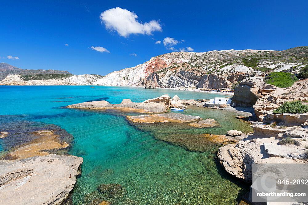 Firiplaka beach, Milos, Cyclades, Aegean Sea, Greek Islands; Greece; Europe
