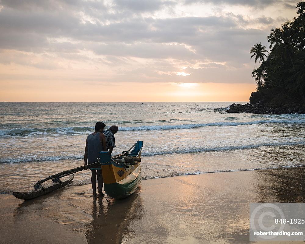 Talalla Beach at dawn, South Coast, Sri Lanka, Asia