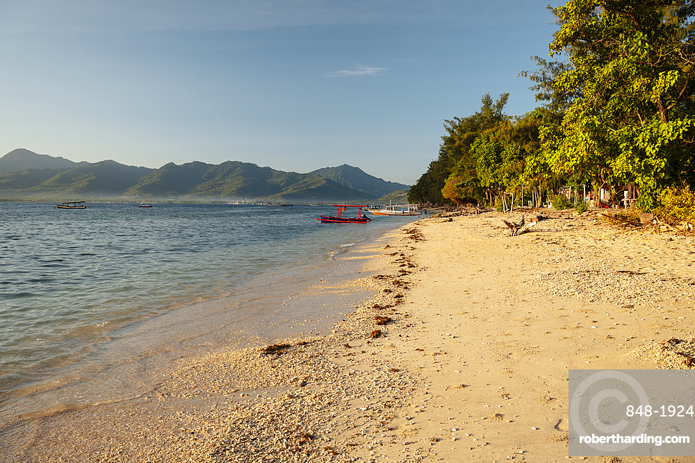 Beach at Gili Air, Gili Islands, Lombok Region, Indonesia, Southeast Asia, Asia