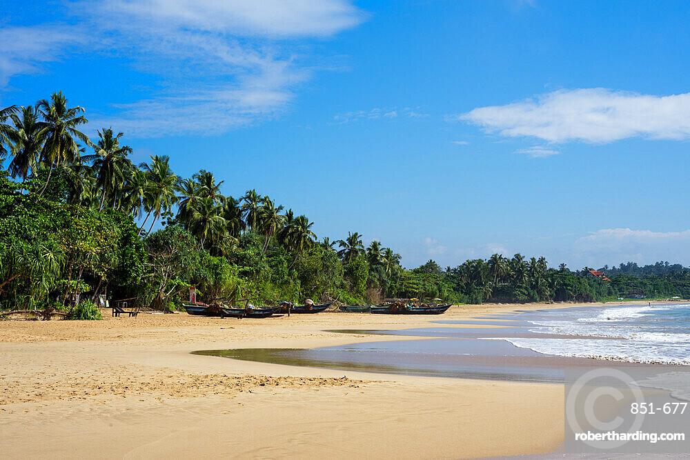 Talalla Beach on the south coast of Sri Lanka, Asia