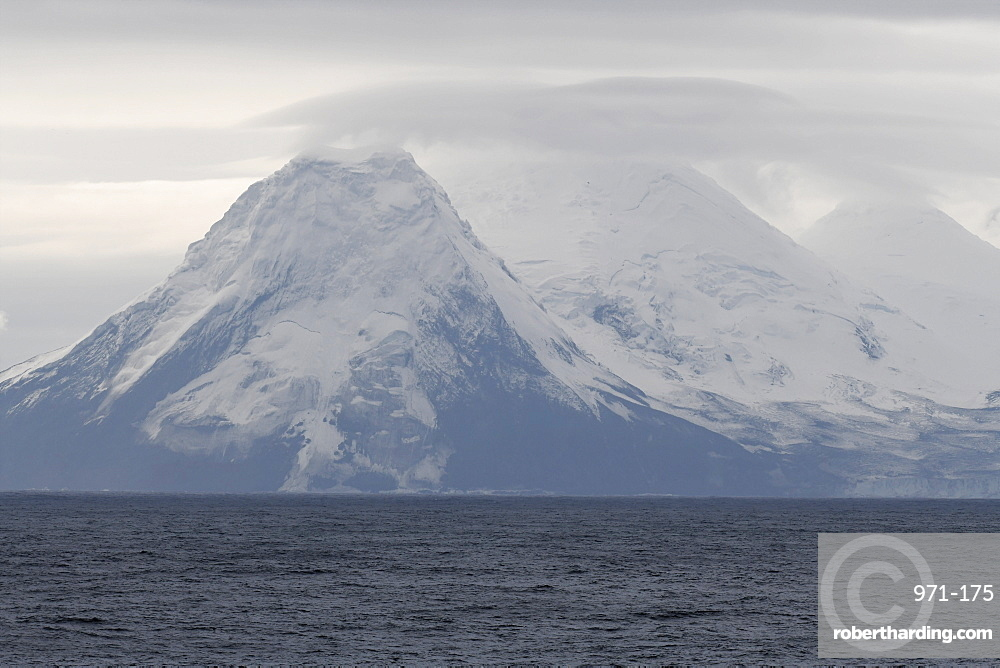 Snow-covered hills of Bristol Island, South Sandwich Islands