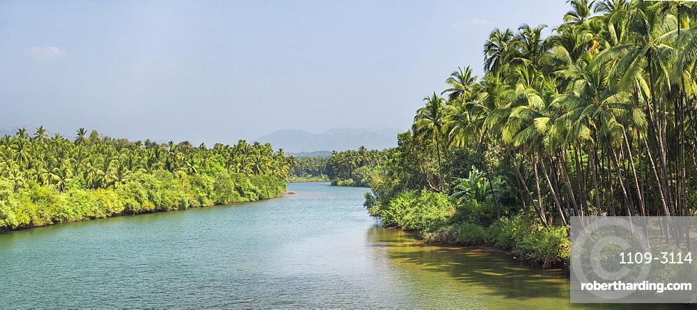 River at Palolem, Goa, India, Asia