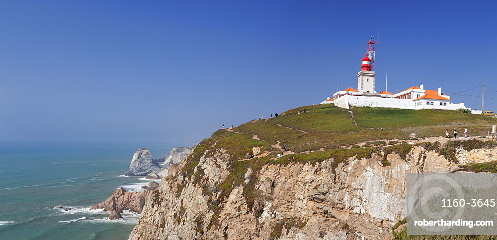 Lighthouse, Cabo da Roca, the westernmost point of Europe, Atlantic Ocean, Estremadura, Portugal, Europe