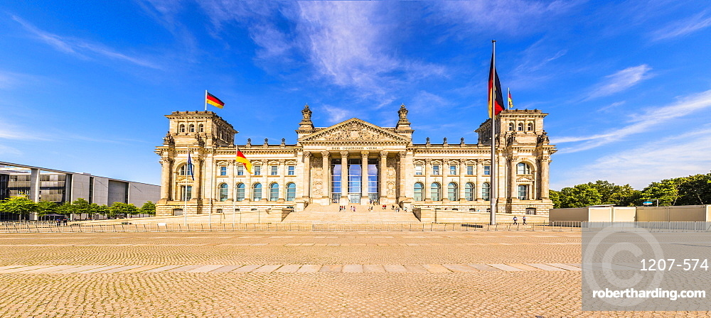 Reichstag building in Berlin, Germany, Europe