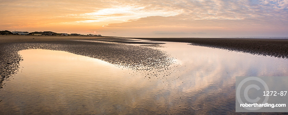Camber Sands Beach at Sunrise, East Sussex, England