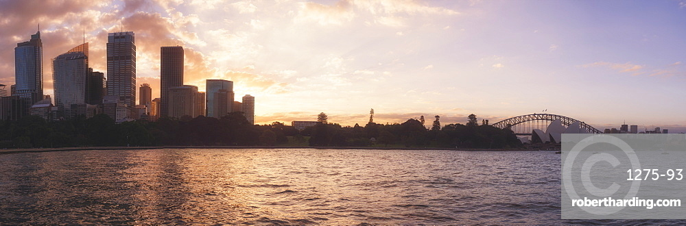 Sydney city skyline panorama from Sydney Harbour, Sydney, New South Wales, Australia, Pacific