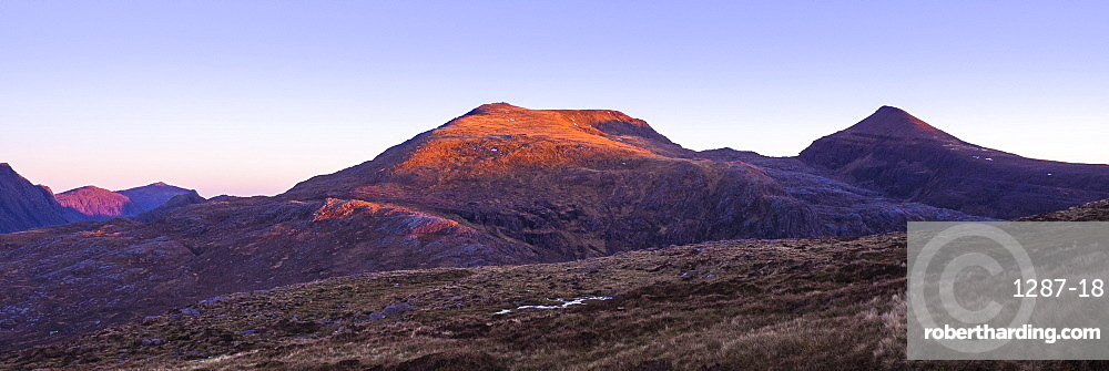 A' Mhaighdean, regarded as one of the remotest Scottish Munros and one of the finest viewpoints in Britain, Highlands, Scotland, United Kingdom, Europe