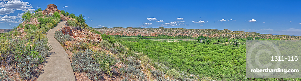 Panorama of Tuzigoot and the Verde Valley, managed by the National Park Service, Arizona, United States of America, North America