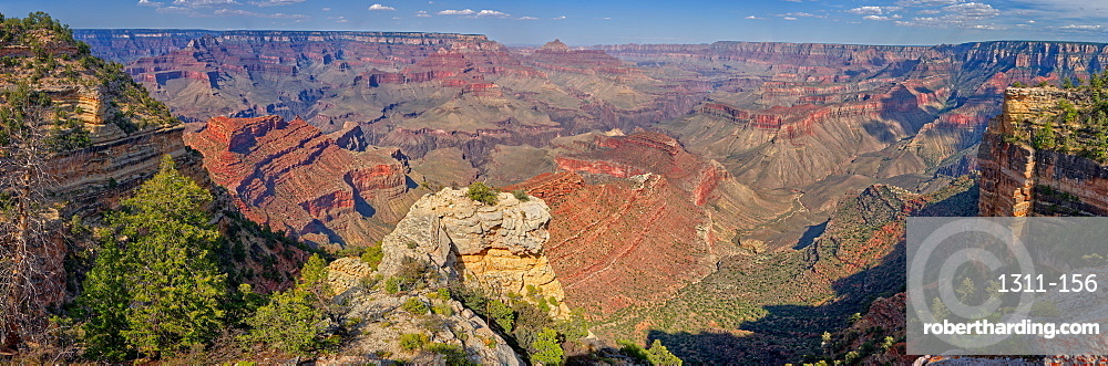 Grand Canyon view east of Shoshone Point on the south rim, Grand Canyon National Park, UNESCO World Heritage Site, Arizona, United States of America, North America