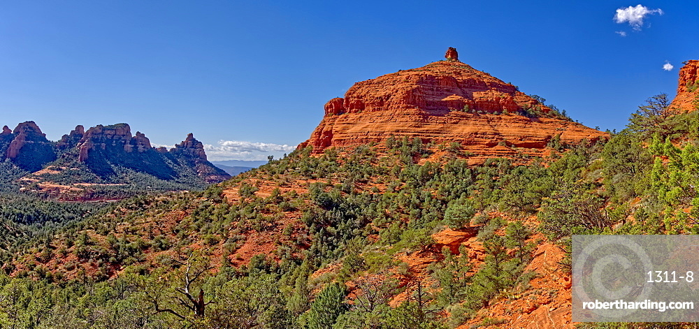 Western Mitten Ridge viewed from the Hangover Trail, Sedona, Arizona, United States of America, North America