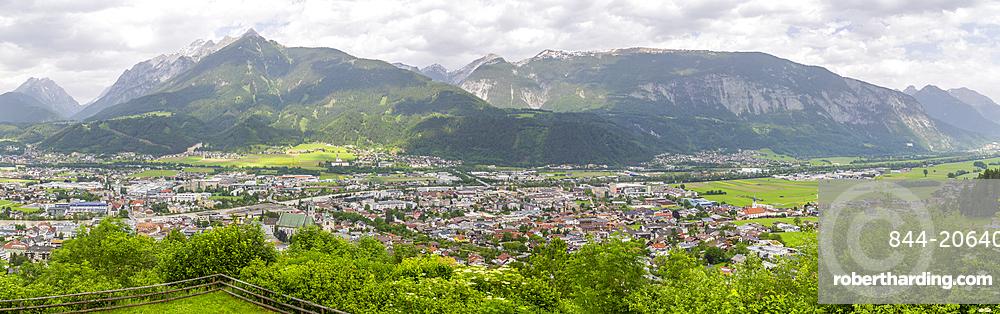 View of Schwaz from view above the town, Schwaz, Austria, Europe