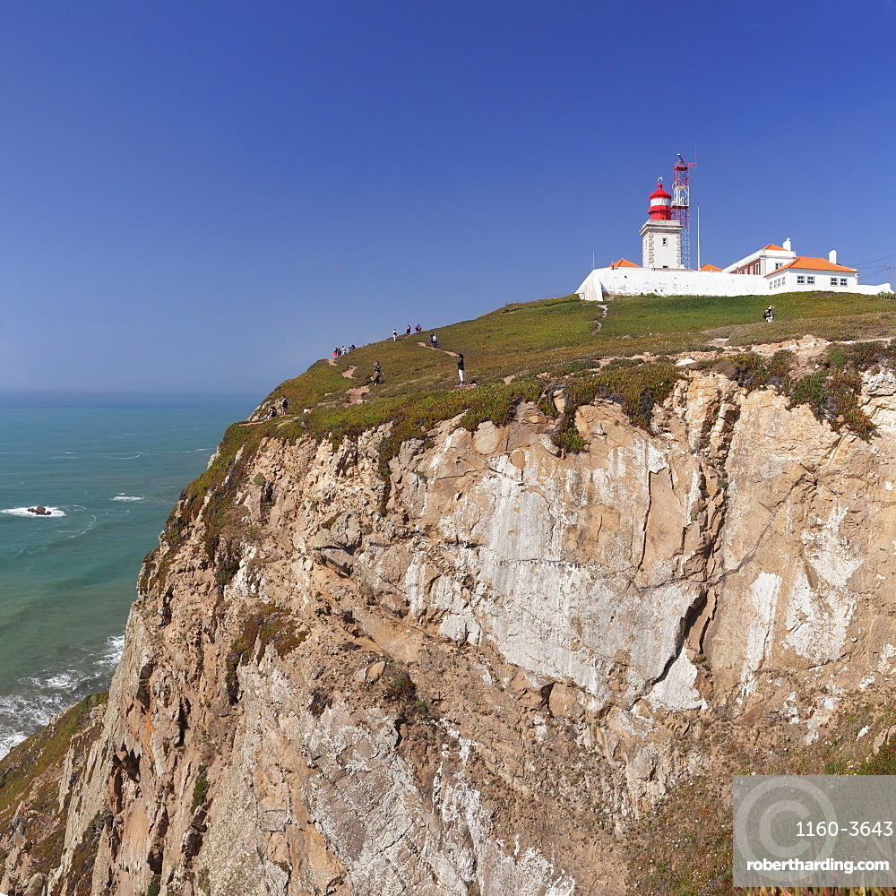 Lighthouse, Cabo da Roca, the westernmost point of Europe, Atlantic Ocean, Estremadura, Portugal