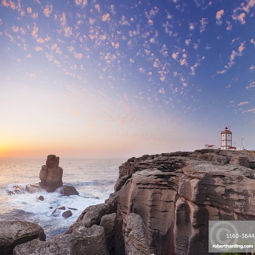 Cabo Carvoeiro lighthouse, Costa da Prata, Silver Coast, Peniche, Atlantikc Ocean, Portugal