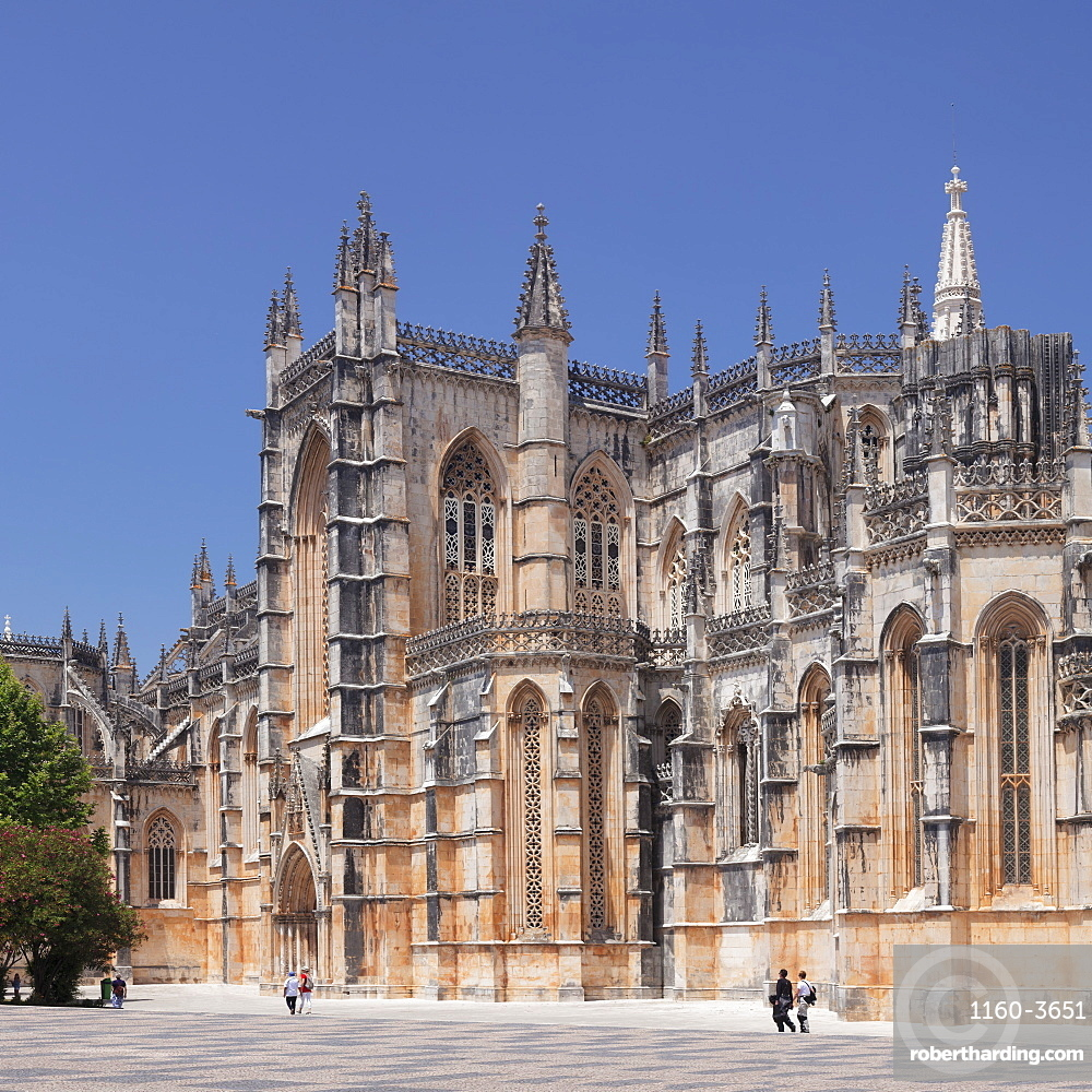 Mosteiro da Santa Maria da Vitoria (Monastery of St. Mary of the Victory), UNESCO World Heritage Site, Batalha, Leiria, Portugal, Europe