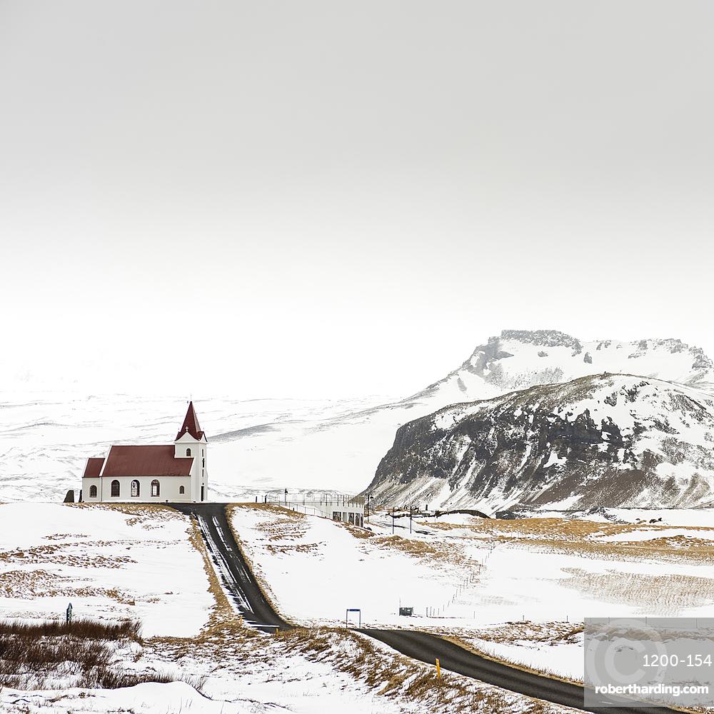 Ingjaldsholskirkja church, near Hallissandur, Snaefellsnes, Iceland.