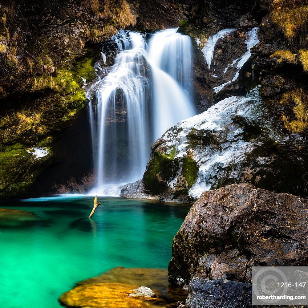 Vintgar Gorge Waterfall, Slovenia, Europe