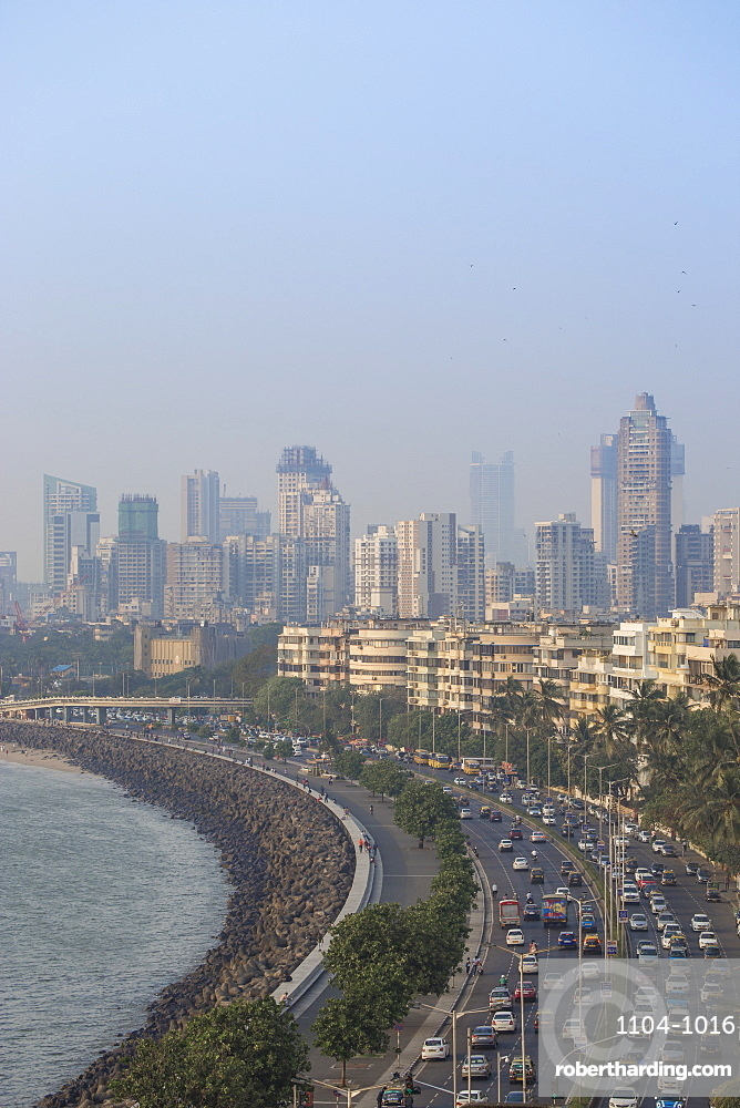 View of Marine Drive, Mumbai, Maharashtra, India, Asia