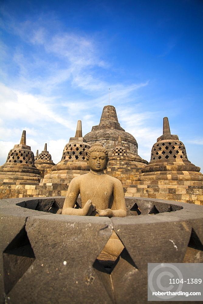 Borobudur Temple, UNESCO World Heritage Site, Magelang, Java, Indonesia, Southeast Asia, Asia