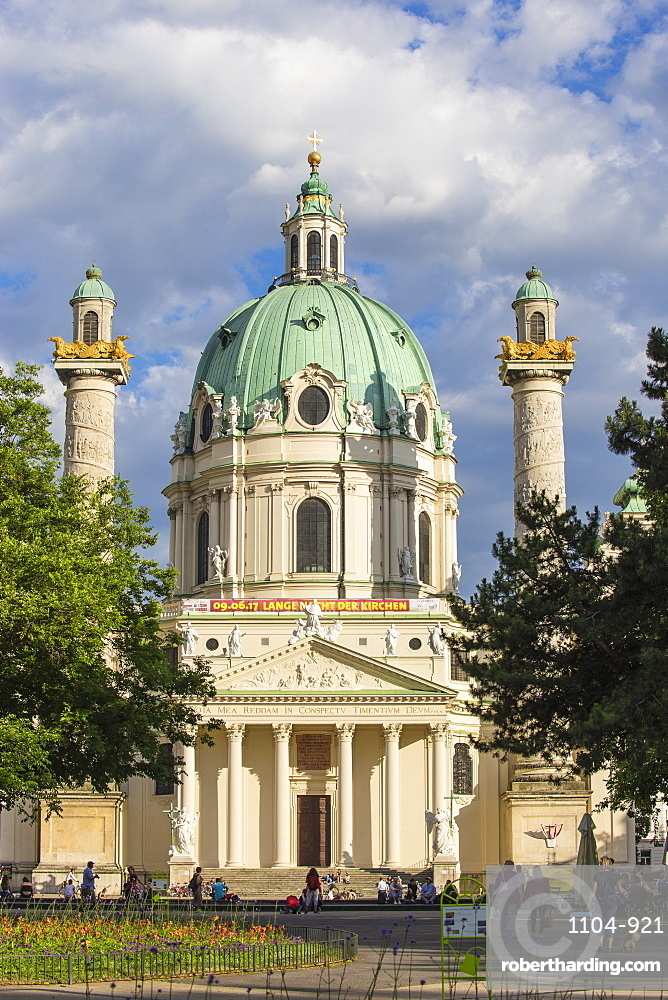 St. Charles Church (Karlskirche), Vienna, Austria, Europe