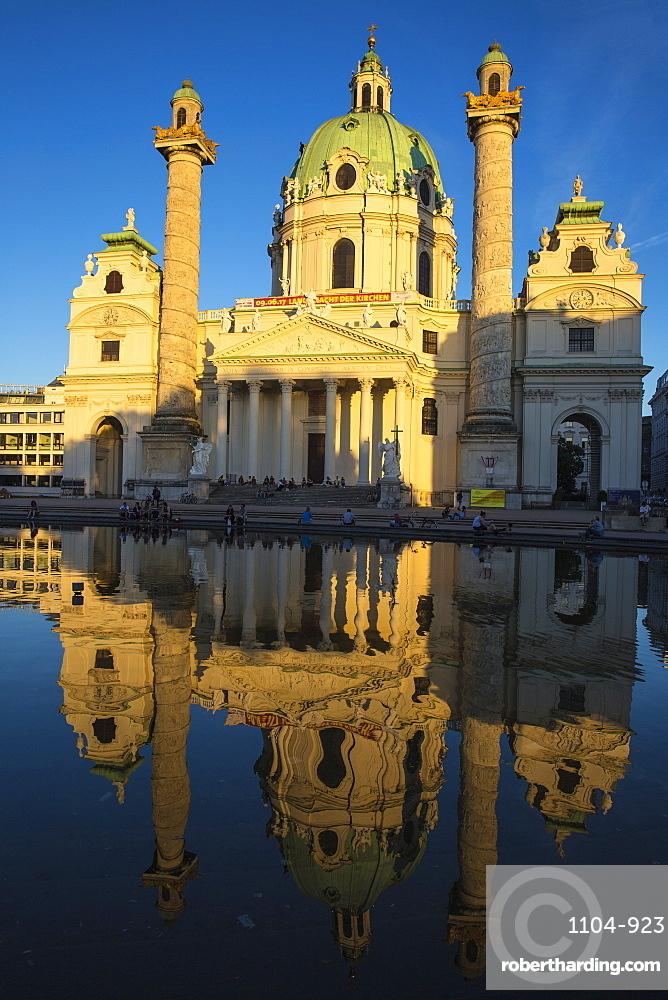 St. Charles Church (Karlskirche), Vienna, Austria, Europe
